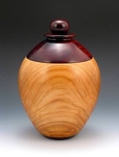 Cherry & Cocobolo Jar - 486 - AAW Photo Gallery