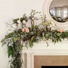 Top Your Mantel with Winter Blooms - 101 fresh christmas decorating ideas - Southern Living