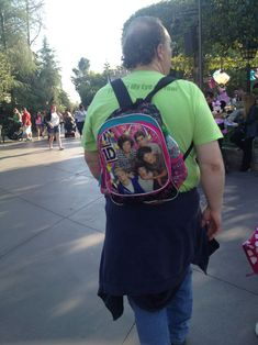 This dad whose backpack swag is pretty much without flaw. | 34 People Who Have Infinitely More Swag Than You Ever Will