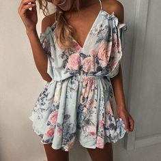 3541984709 Summer 2018 Women Floral Print Playsuit Strap Loose Rompers Ruffles Off  Shoulder Sleeveless Jumpsuit Backless Sexy Overall