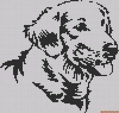 Labrador dog perler bead pattern