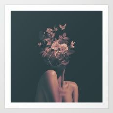 Art Print featuring Dead Flowers by Ilham Rambe