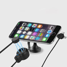 Car Mobile Phone Holder For iphone samsung charge stand 360 Degree Ratotable Support Air Vent Mount Car Phone Holder Car charger
