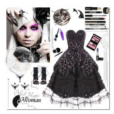 """""""Black Magic Woman"""" by sharoncrotty ❤ liked on Polyvore featuring Manic Panic, Hell Bunny, Surratt, Mary Kay, Zimmermann and Lord & Berry"""