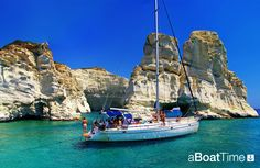 Lavrion sailing holidays in Greece. Amazing turquoise waters to sail, bath and relax https://aboattime.com/en/yacht-charter-in-lavrion