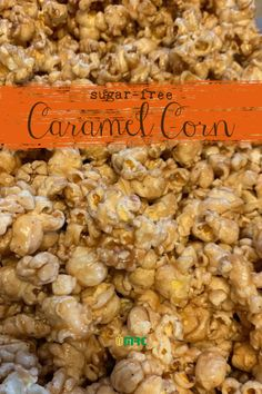 A delicious combination of salty & sweet! Air-popped popcorn topped with our homemade sugar free caramel sauce. Sugar Free Caramel Popcorn Recipe, Homemade Caramel Sauce, Popcorn Recipes, Sugar Free Kettle Corn Recipe, Sweet Popcorn, Pop Popcorn, Air Popped Popcorn, Popcorn Toppings, Flavored Popcorn