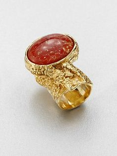 Yves Saint Laurent - Arty Ovale Ring/Bright Goldtone - Saks.com