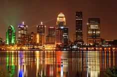 louisville Kentucky skyline- a great city, everyone should go especially for Thunder Over Louisville and The Derby! FUN!