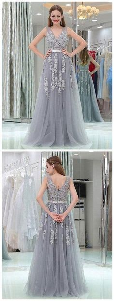 92f151ee69c44 2018 Lace and Tulle Prom Dresses, Party Dresses, Banquet Dresses, Formal  Gowns