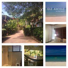 Negril-Idle Awhile. Kleinschalig boetiek hotel direct aan de SevenMiles Beach. Leuk, je krijgt je eigen waterfles om overal op het resort te kunnen vullen. Er zijn ook villa's te huur voor grotere groepen.