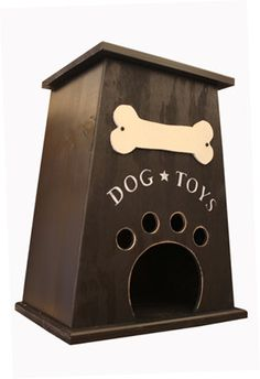 Dog Toy Box by CollegeViewCrafts on Etsy- may need this for my house ...wonder how much it can hold!