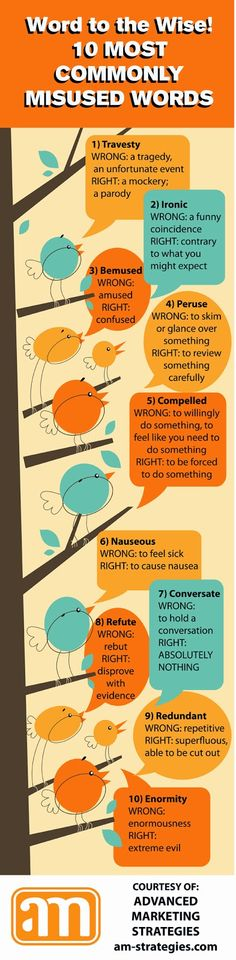 "iHeartLiteracy: 10 Most Commonly Misused Words. Hmm, I always suspected that ""Conversate"" was not a word."