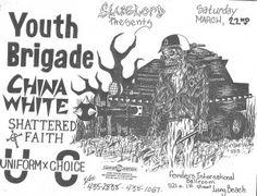 Youth Brigade Gig Flyer by Victor Gastelum