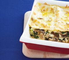 Mushroom, Spinach and Walnut Lasagne Recipe: Cook Vegetarian Magazine