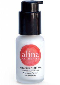 Alina Skin Care Vitamin C Serum with Hyaluronic Acid #hyaluronic #acid #serum #beauty #tips #benefit #antiaging #skin