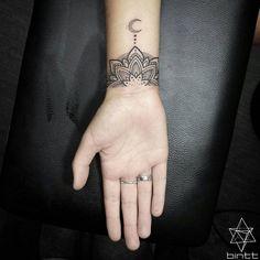 Wrist Aztec Moon Tattoos