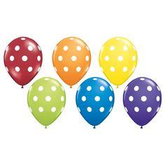 Rainbow Party Polka Dot Balloons - Balloons - Shop by Product PlatesAndNapkins.com