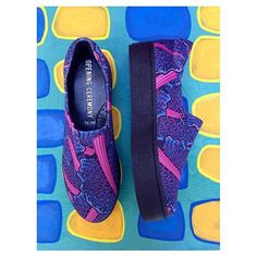 www.postcart.co >>  @shoprelove ⠀ Find it: www.postcart.co/relove/shop⠀ ⠀ SHOES: Rad OPENING CEREMONY neoprene slip ons. One inch flat forms with psychedelic print reminiscent of leafy greens . Brand new with bag and box. Size 10/W 8/M. $85.00.⠀ *⠀ *⠀ Shot on painting by @uuyb - on des play and available for purchase in store!⠀ *⠀ *⠀ *⠀ Click link in bio to purchase or call 415-800-8285. We ship worldwide. All sales are final. ⠀ #relovesf #fashionresell #sanfrancisco #sfstyle #fashion…