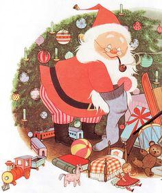 The Night Before Christmas  Clement C. Moore ~ Gyo Fujikawa ~ Grosset & Dunlap, 1961