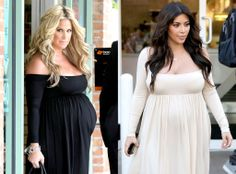 Kim Zolciak(Twins) vs Kim Kardashian(One Baby)..Who wore it better???.. Maternity Fashion