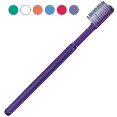 47-Tuft Full-Size #Brush: (55¢ each, Min. Quantity 72). Soft #bristles, clear #jewel-toned handles. May be personalized.  #754719. http://www.prophyperfect.com/customize/