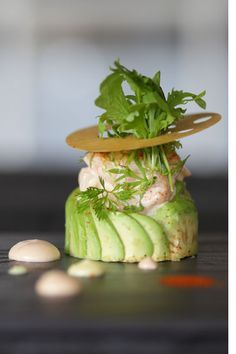 Retro Avocado Ritz recipe taken to new and delicious heights #plating #presentation