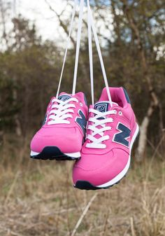 The 574 New Balance pink trainers are for the little ones who want to run, but run in style.