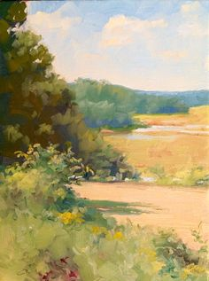 """""""View From the Porch"""" by Dennis Perrin oil on canvas   16"""" x 12"""" dennisperrinfineart.com"""