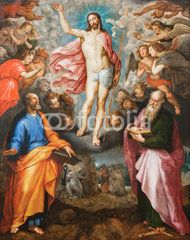 Mechelen - Paint of Resurrection of Christ in cathedral