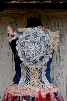 Top shirt corset  upcycled clothing eco chic women