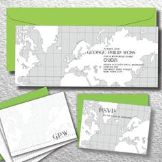 Travel Party Theme Ideas - Bar Mitzvah Invitations from Michael Zac Design Group - mazelmoments.com