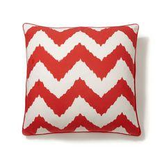 red chevron decor pillows  Modern Palm