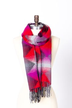 tribal pattern scarf... great colors
