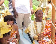 Didier Drogba With Lala Diakite