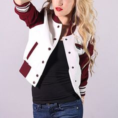 i want this!! Varsity Jacket Burgundy  by Members Only