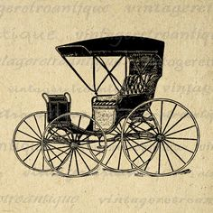 Carriage Wagon Digital Image Graphic Antique Car Printable Download Vintage Clip Art Jpg Png Eps 18x18 HQ 300dpi No.1432 @ vintageretroantique.etsy.com