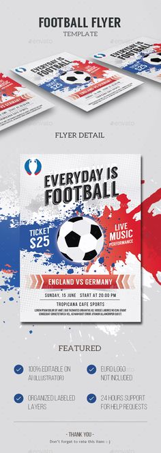 Football Game Flyer Template  Flyer Template Psd Templates And