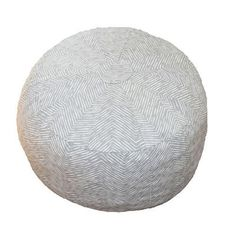 A nursery ottoman or playroom seat, this gray herringbone patterned pouf is a must-have décor item. #PNshop