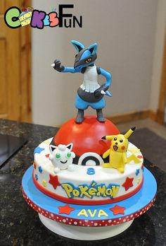 Pokemon cake with Lucario