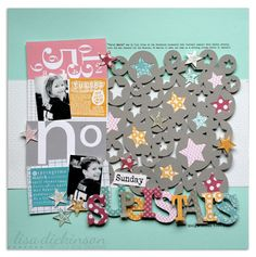 by bluestardesign - love the background with stars and circles cut with the Silhouette.