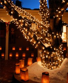 More Santa Fe Farolitos by amnesoid, via Flickr