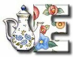 Tea Party Letter E