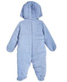 50ea40c09 Bear Ear Minky Plush Snowsuit Pram (Baby Boys)  newbornsnowsuit ...