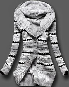 striped black white top sweater cardigan. Looks perfect for the fall