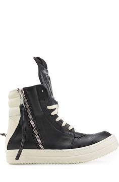 High-Top-Sneakers aus Leder detail 1