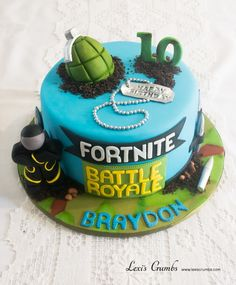 Fortnite cake Jayden's birthday 12th Birthday Cake, 10th Birthday Parties, Slumber Parties, Birthday Cake Kids Boys, Birthday Ideas, Bolo Minecraft, Cakes For Boys, Cakes And More, Themed Cakes