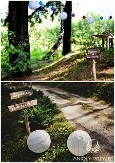 20. Forest Wedding,Outdoor wedding,Wedding sign / Leśne wesele,Wesele w plenerze,Znaki weselne,Anioły Przyjęć