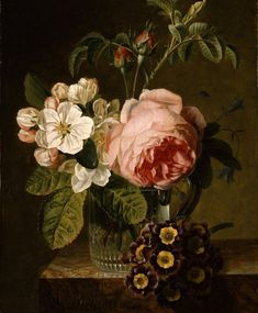 Jan Frans van Dael Flowers in a Glass Vase on a Ledge, Oil on panel, 28 x 21 cm. Deborah Gage (Works of Art) Art Floral, Flower Prints, Flower Art, Still Life Flowers, Art Calendar, Still Life Art, Gras, Floral Illustrations, Botanical Art