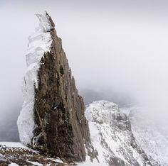 The In Pinn peak in the Cuillins, Isle of Skye, Scotland