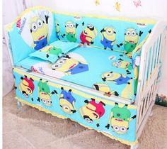 Promotion! 6PCS Baby Crib Bedding Set for Girls